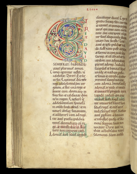 Inhabited Initial, In The Old Testament Books Of Josua To Kings f.120v